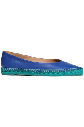 CASTAÑER Leather espadrille point-toe flats