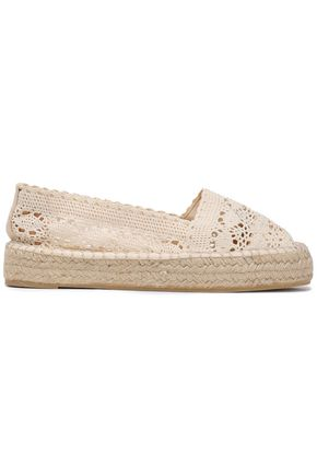 CASTAÑER Kenda crocheted cotton espadrilles