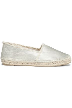 CASTAÑER Metallic canvas espadrilles