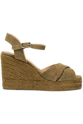CASTAÑER Blaudell canvas wedge espadrilles
