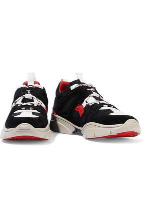 Isabel Marant Sneakers ISABEL MARANT WOMAN KINDSAY LEATHER, SUEDE AND NEOPRENE SNEAKERS BLACK