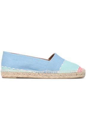 CASTAÑER Kenda color-block cotton-canvas espadrilles