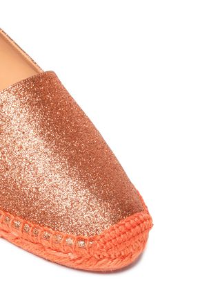 CASTAÑER Kenda glittered faux leather espadrilles