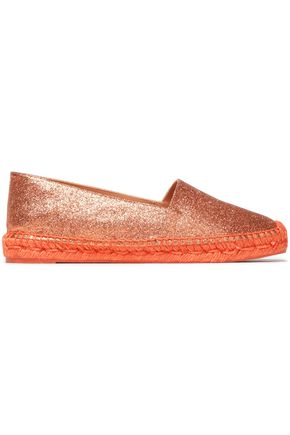 CASTAÑER Kenda glittered faux leather espadrilles