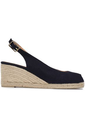 CASTAÑER Beli canvas wedge espadrilles