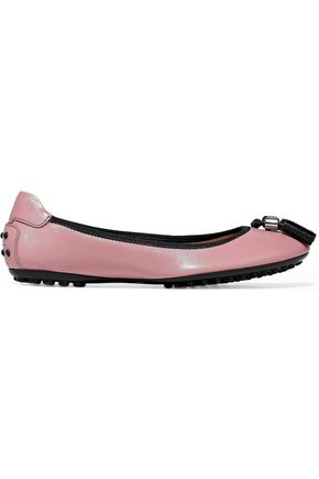 TOD'S Tasseled leather ballet flats