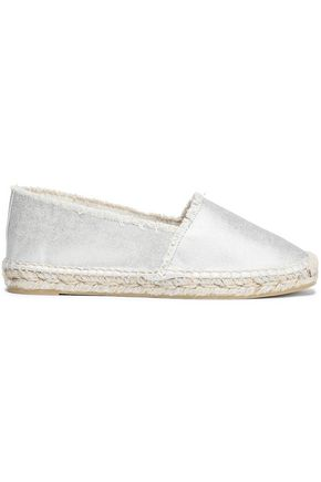 CASTAÑER Kito frayed metallic cotton-canvas espadrilles