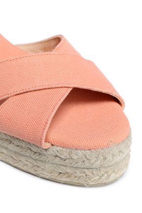CASTAÑER Blaudell cotton-canvas wedge espadrille sandals