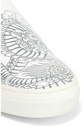 TOD'S Printed leather slip-on sneakers