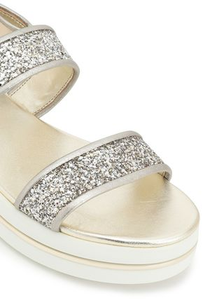 MICHAEL MICHAEL KORS Peggy glittered leather sandals