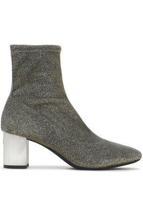 MICHAEL MICHAEL KORS Paloma metallic stretch-knit sock boots