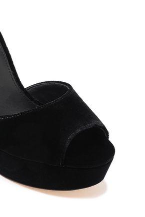 MICHAEL MICHAEL KORS Velvet platform sandals