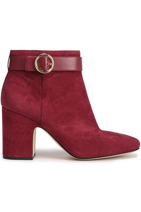 MICHAEL MICHAEL KORS Alana leather-trimmed suede ankle boots