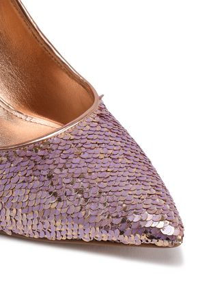 MICHAEL MICHAEL KORS Claire sequined faux leather pumps