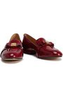 MICHAEL MICHAEL KORS Caroline bow-embellished patent-leather loafers