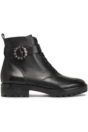 MICHAEL MICHAEL KORS Ryder embellished leather ankle boots