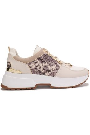 MICHAEL MICHAEL KORS Cosmo snake effect-paneled leather sneakers