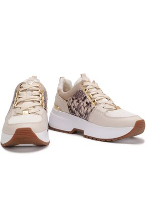 e30a26d79d MICHAEL MICHAEL KORS Cosmo snake effect-paneled leather sneakers