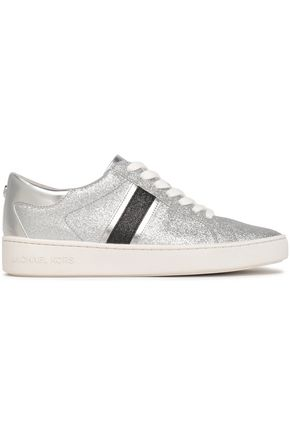 MICHAEL MICHAEL KORS Keaton glittered faux leather sneakers