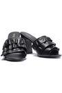 MICHAEL MICHAEL KORS Ruffled leather mules