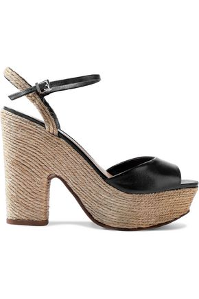 SCHUTZ Camilly leather platform espadrille sandals