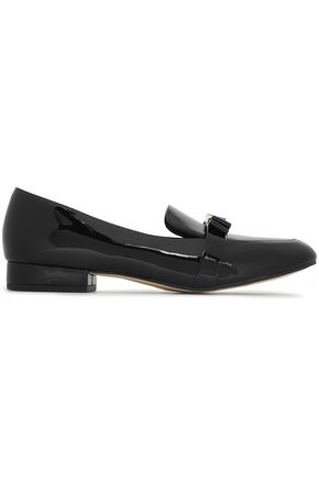 bfee6078d5a1 MICHAEL MICHAEL KORS Caroline bow-embellished patent-leather loafers