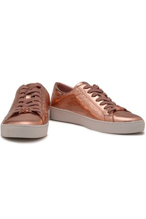MICHAEL MICHAEL KORS Colby metallic faux leather sneakers