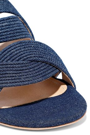 SCHUTZ Quilted denim slides