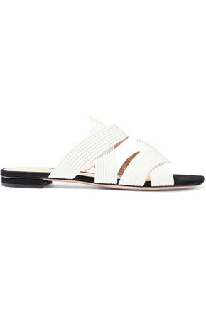 SCHUTZ Cassiane quilted leather slides