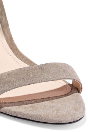 SCHUTZ Tasia fringe-trimmed suede sandals