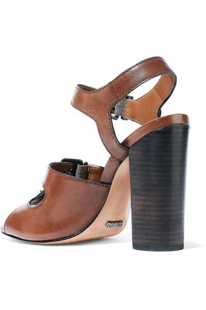 SCHUTZ Tristan buckled leather sandals