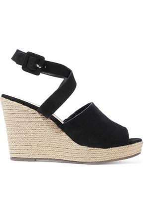 SCHUTZ Suede wedge espadrille sandals