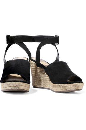 SCHUTZ Suede wedge espadrille sandals