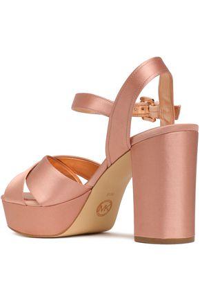 MICHAEL MICHAEL KORS Divia satin platform sandals
