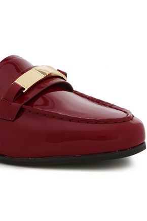 MICHAEL MICHAEL KORS Paloma embellished patent-leather loafers