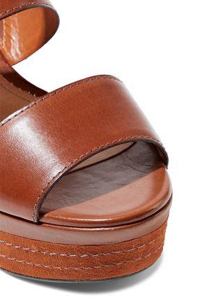 SCHUTZ Kaia leather platform slingback sandals