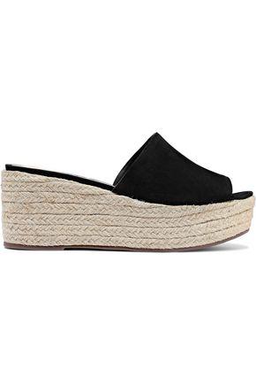SCHUTZ Thalia suede platform espadrille sandals