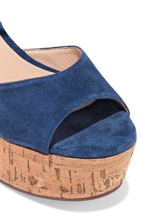 SCHUTZ Heloise suede platform sandals