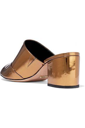 SCHUTZ Aylane metallic leather mules