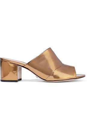 SCHUTZ Aylane metallic leather mules