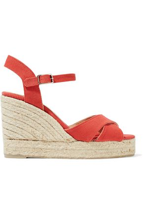 CASTAÑER Blaudell canvas wedge espadrille sandals