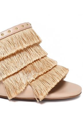 MICHAEL MICHAEL KORS Gallagher fringed studded faux leather sandals
