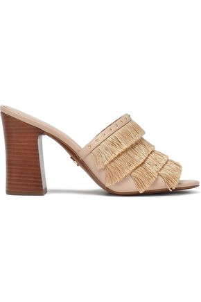 80882c389ed2 MICHAEL MICHAEL KORS Gallagher fringed studded faux leather sandals
