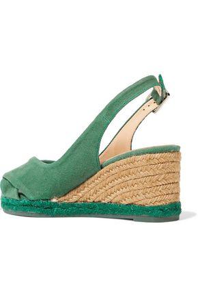 CASTAÑER Brianda twisted canvas wedge slingback sandals