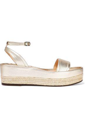 CASTAÑER Metallic leather platform espadrille sandals
