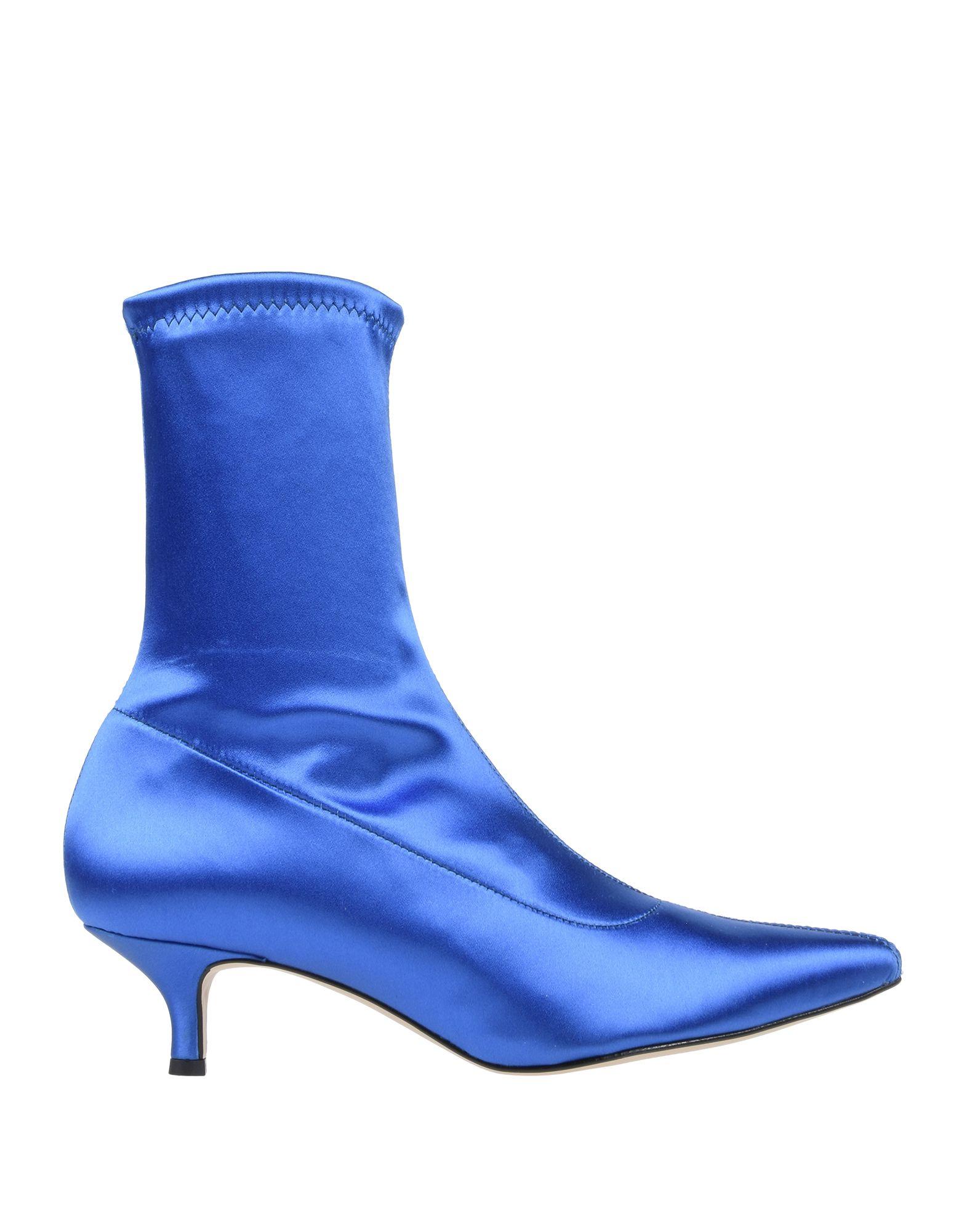 《セール開催中》ANGELA GEORGE レディース ショートブーツ ブルー 36 紡績繊維