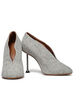 VICTORIA BECKHAM Glossed-leather pumps