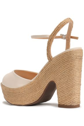 SCHUTZ Leather platform sandals