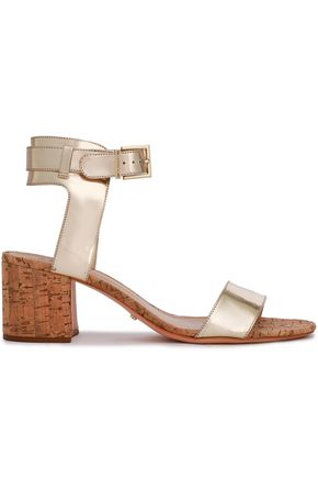 SCHUTZ Mirrored leather sandals