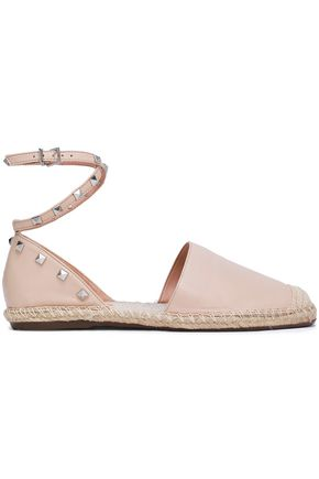 SCHUTZ Studded leather espadrilles